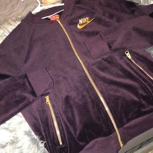 Velour Nike zip up